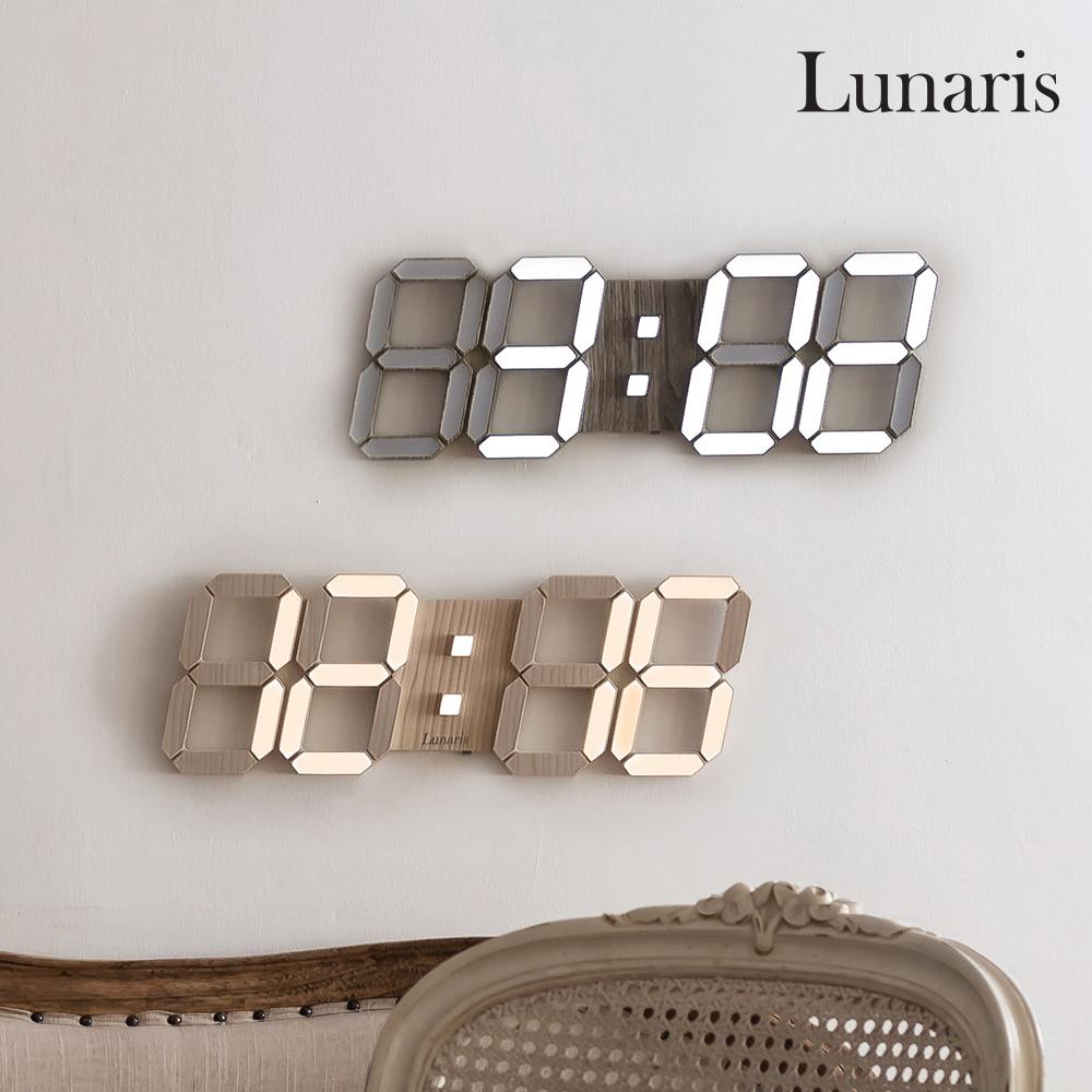 국산 루나리스 LED 벽시계 38cm 듀얼컬러 / 우드