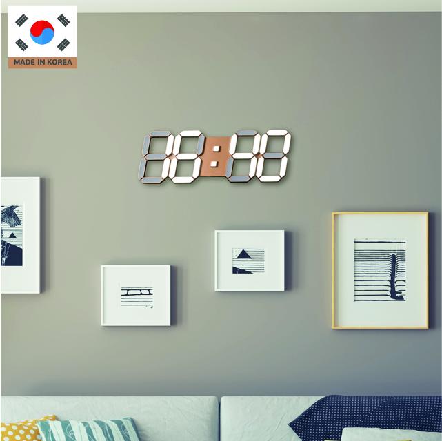 국산 루나리스 LED 벽시계 38cm 듀얼컬러 / 골드