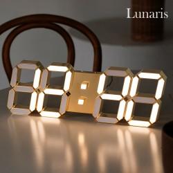 루나리스 24K 샴페인골드 3D LED 벽시계